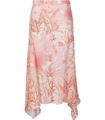 stella mccartney pink silk skirt