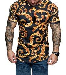 camiseta casual de algodón con estampado soft para hombre