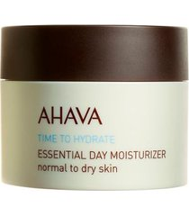 hidratante facial ahava - essential day moisturizer for normal to dry skin 50ml