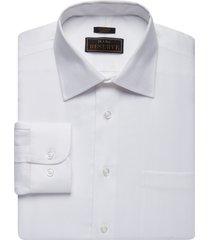 jos. a. bank men's reserve collection slim fit spread collar herringbone dress shirt, white, 14 1/2x32