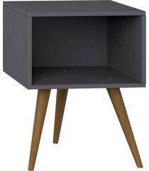 mesa de cabeceira expresso be mobiliã¡rio cinza - cinza - dafiti