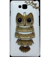 cute retro metal bronze owl branch hard back skin case for lg optimus l9 ii d605