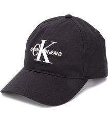 calvin klein jeans logo baseball cap - black