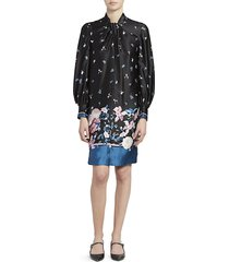 erdem women's michela dusk bouquet shift dress - black - size 6 uk (2 us)