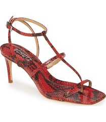 women's schutz ameena t-strap thong sandal, size 9.5 m - red