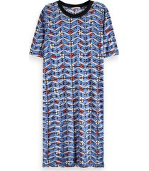 printed burnout dress