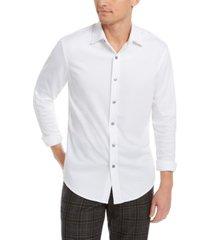 tasso elba men's supima cotton birdseye-knit shirt, created for macy's