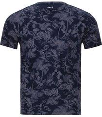 camiseta hombre floral color azul, talla xs