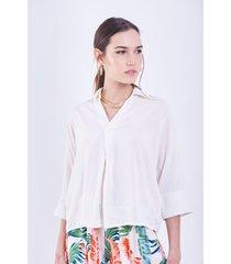 blusa blanco donadonna mile