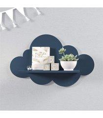 prateleira nuvem marinho mdf m 45cn grã£o de gente azul - azul - menino - dafiti
