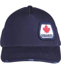 dsquared2 leaf patch baseball cap