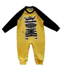 macacáo bebe manabana top recem nascido enxoval batizado amarelo