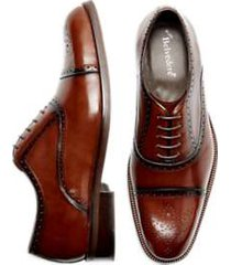 belvedere norden cognac medallion cap toe oxfords