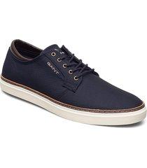 prepville low lace shoes låga sneakers blå gant