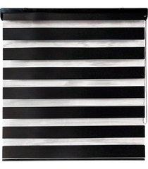 cortina rolo em poliéster zebra 140x160cm preta