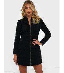 noisy may nmlisa dnm zip dress su019bl bg noo klänningar