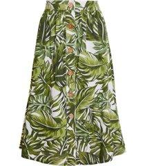 bcbgeneration palm frond midi skirt