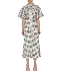 """inhale' gingham check jumpsuit"
