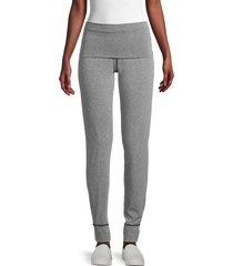 splendid women's high-rise jogger pants - marled black - size xs
