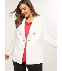lane bryant women's bryant blazer - double breasted ponte 24p cream
