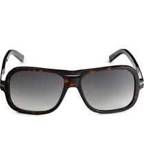 dsquared2 women's 60mm square sunglasses - brown tortoise