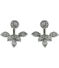 diamond stud and earring jacket