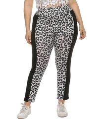 talla grande black leopardo pantalones