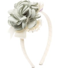 abel & lula flower applique headband - neutrals