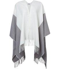 poncho le lis blanc kim dust tricot off white feminino (dust, un)