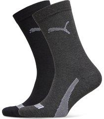 puma sock 2p unisex promo underwear socks regular socks grå puma