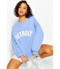 oversized detroit sweater, hemelsblauw