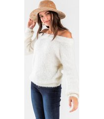 bethanie off the shoulder sweater - ivory