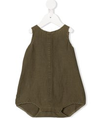 caramel charing cross crew neck romper - green