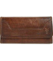 women's frye 'melissa' continental wallet - brown