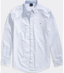 tommy hilfiger men's adaptive custom fit stripe shirt collection blue - xl