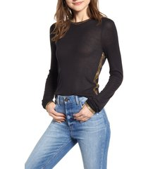 women's zadig & voltaire willy gold foil tee, size medium - black