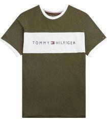 tommy hilfiger heren t-shirt met logo groen