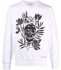 alexander mcqueen graphic-print long-sleeve sweatshirt