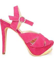 sandalia rosa micheluzzi gamuza