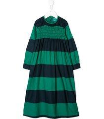 bobo choses striped casual dress - green