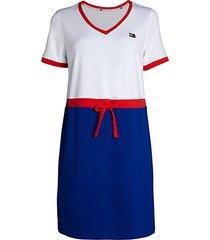 tri-tone t-shirt dress