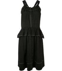 goen.j peplum detail dress - black