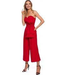 jumpsui moe m571 strapless jumpsuit - rood