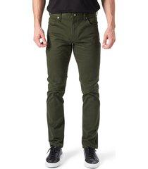 men's 7 diamonds brushed twill slim straight leg five-pocket pants, size 30 x 32 - green