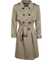 miu miu double-breasted belted trench