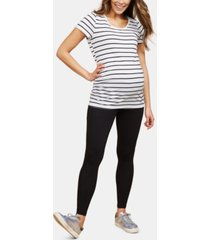 bumpstart maternity 2-pk. leggings, gray & black