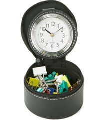 mind reader single compartment desk organizer with attached watch