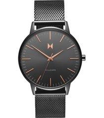mvmt women's boulevard lincoln gunmetal stainless steel mesh bracelet watch 38mm