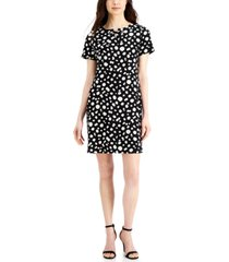 anne klein printed shift dress