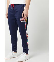 polo ralph lauren men's athletic flag pants - newport navy - xl